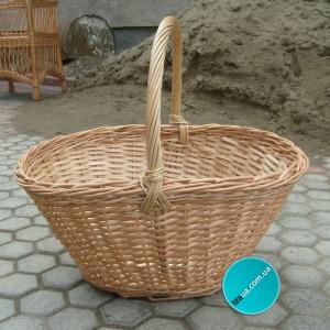 Плетеная корзина для грибов