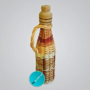 "Пляшка обплетена лозою ""п'ятірочка або 0,5 л"""