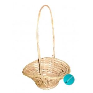 """Плетений кошик для квітів """"Шляпка"""""""
